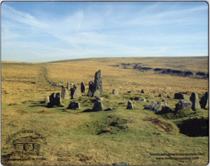 Dartmoor Society Mouse Mat - Down Tor Stone Row