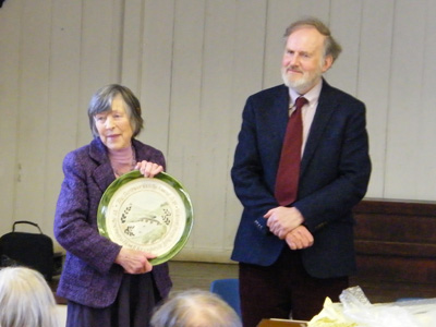 Dartmoor Society Award 2018 presented to Rosemary Howell from Lukesland Gardens