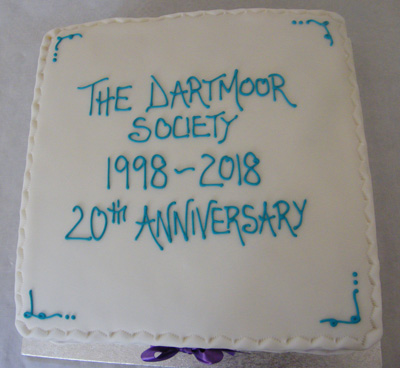 Celebratory cake marking the 20th anniversary of the Dartmoor Society