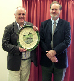 Bill Murray receiving the 2011 Dartmoor Society Award