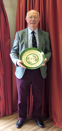 Dr Tim Harrod receiving the Dartmoor Society Award 2014