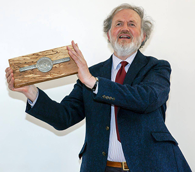 Tom Greeves with Tin Ingot
