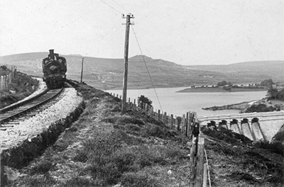 Princetown Train at Burrator about 1900 © T Greeves collection